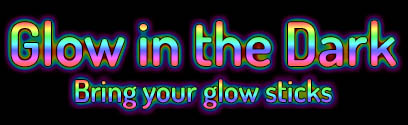 Glow in the Dark text