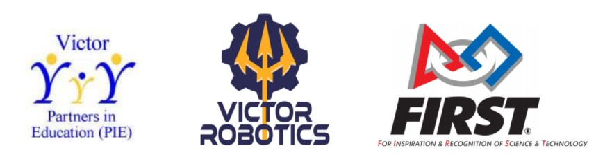 Logos of Victor PIE, Victor Robotics and First